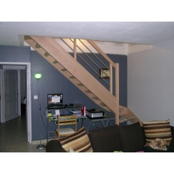 Escalier std rampe démontable